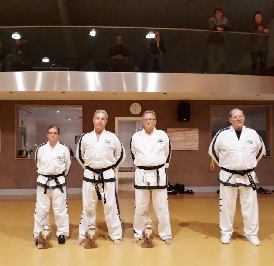 das Trainerteam: Nicole Schebaum, Heiner Minzel, Wolfgang Schröder und Chef-Trainer Max Geburt