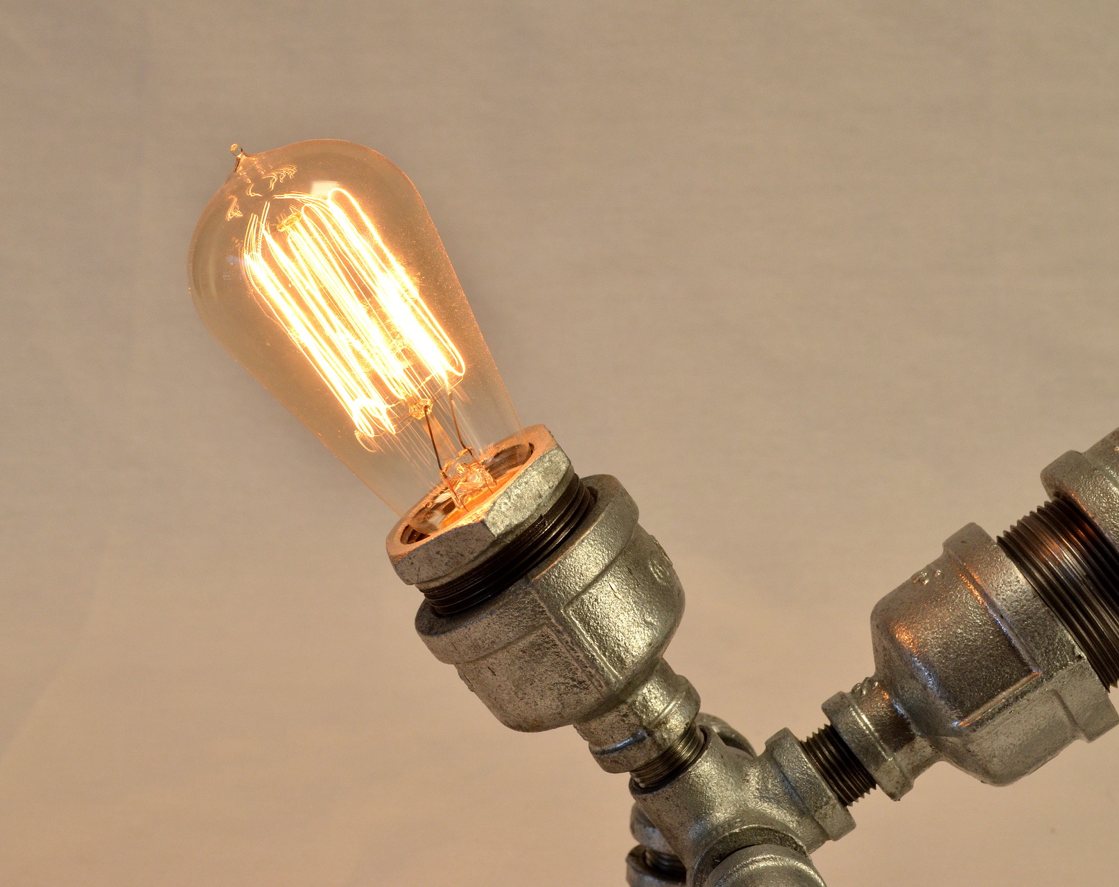 Dwog's beautiful 40 watt Edison-style hand-wound light bulb.