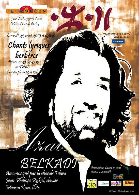 Affiche du concert à l'Européen - Azal Belkadi & Tiliwa