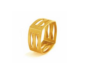 grafischer Ring in quadratischer Form mit Durchbrüchen