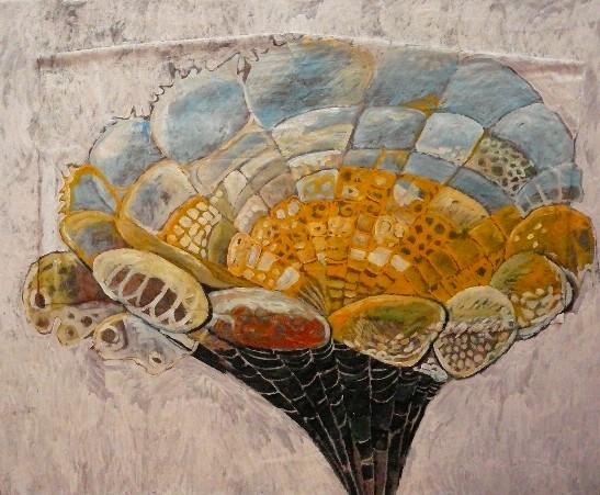 Kosmos im Blütenkelch 2008 (Öl auf Folie/Alu, 115 x 140 cm)