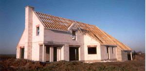 Maison construite en béton cellullaire