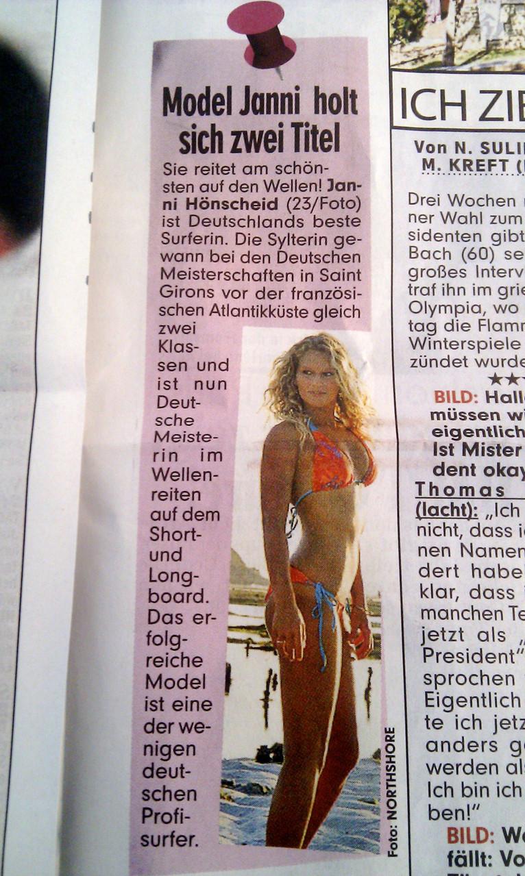 Janni Hönscheid Bild Zeitung 2013