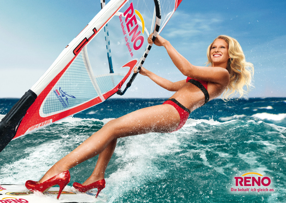 Reno Poster High Heels windsurfing