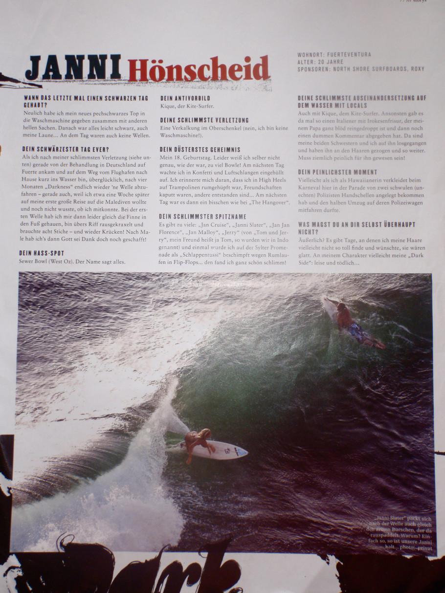 Janni Hönscheid Surfers Magazine
