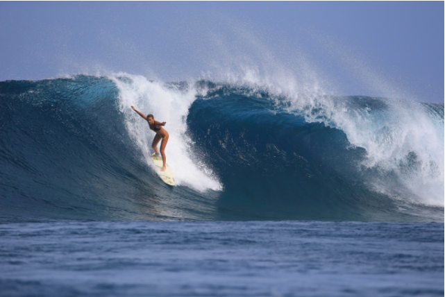 Janni at P-Pass, Pohnpei Foto by Simon Williams - Swilly