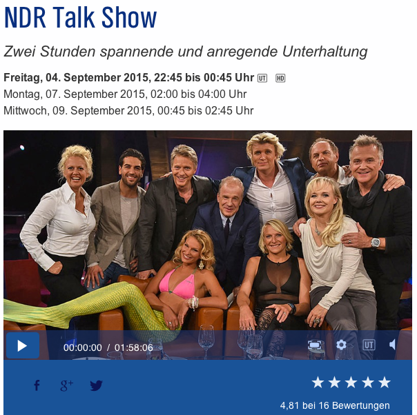 NDR talkshow 4.Sept.2015