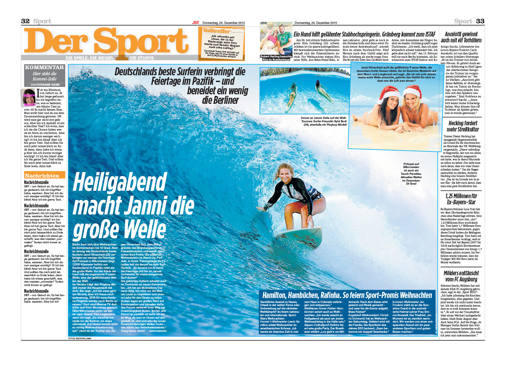 in Bild Berlin (print) Christmas 2015
