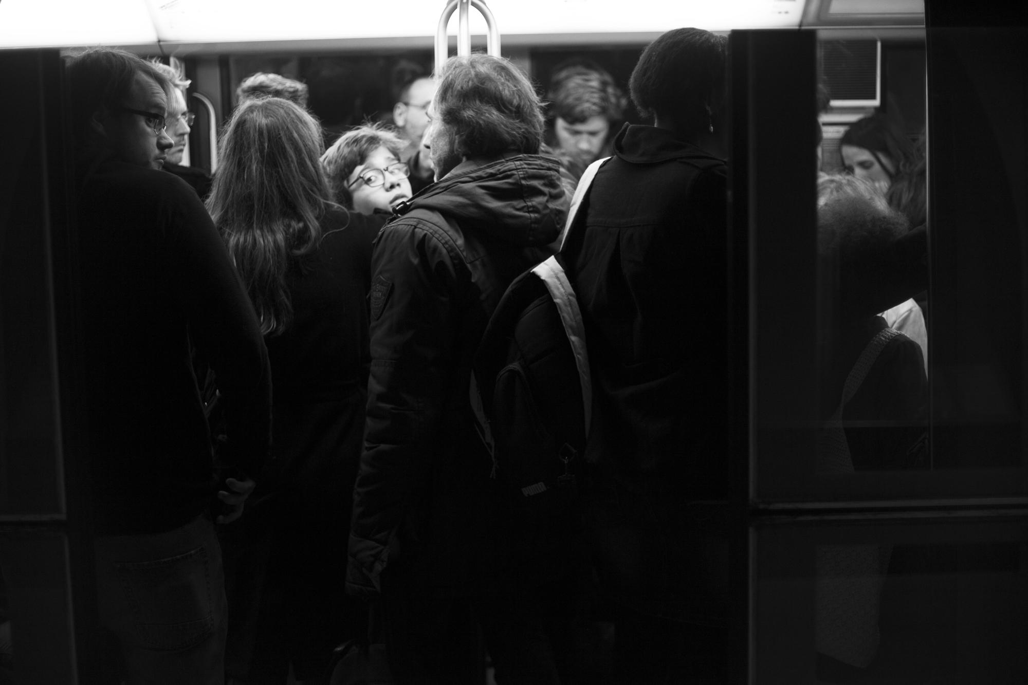 """""""No exit"""" - Station de métro Concorde, Paris (2017). © Clémence Rougetet"""