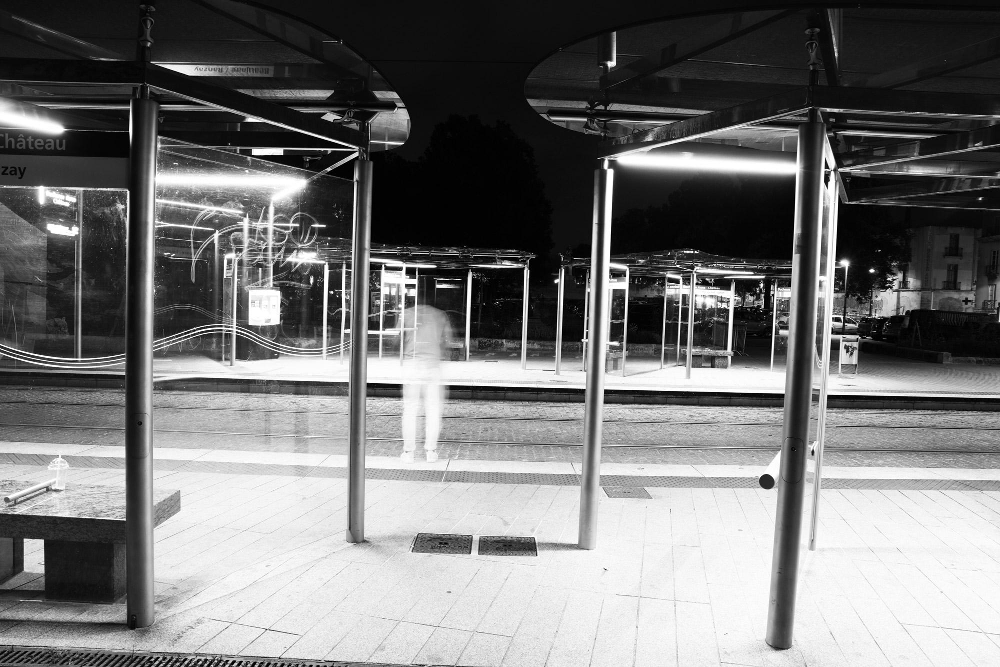 """""""The urban ghost"""" - Station """"Duchesse Anne - Château des Ducs de Bretagne"""", Nantes. ©Clémence Rougetet"""