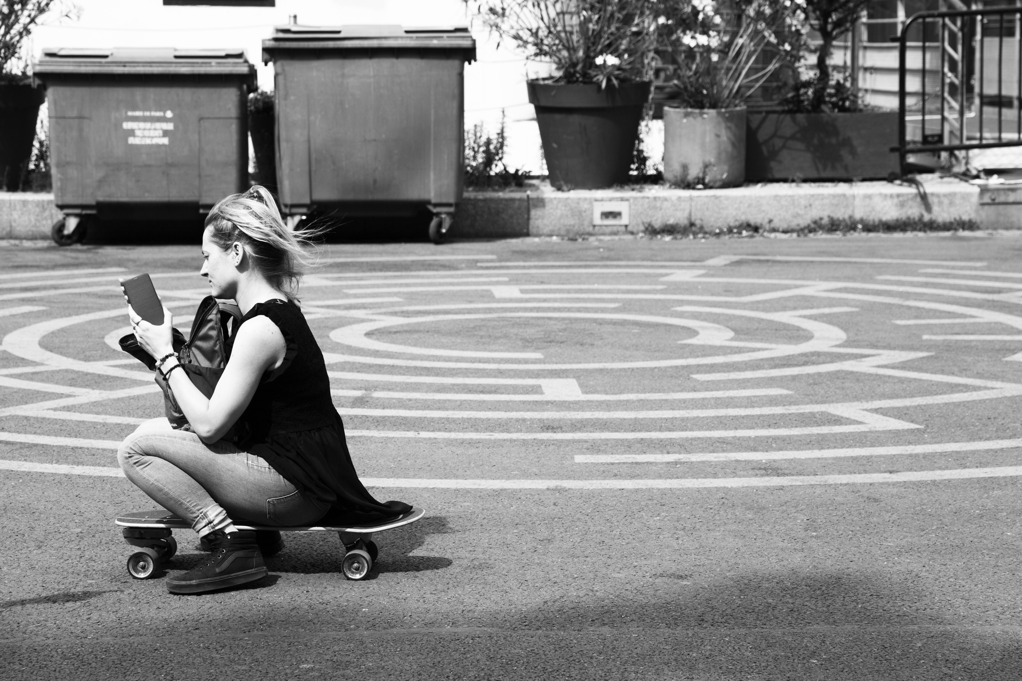 """""""Urban rolling"""" - Paris (2019). © Clémence Rougetet"""