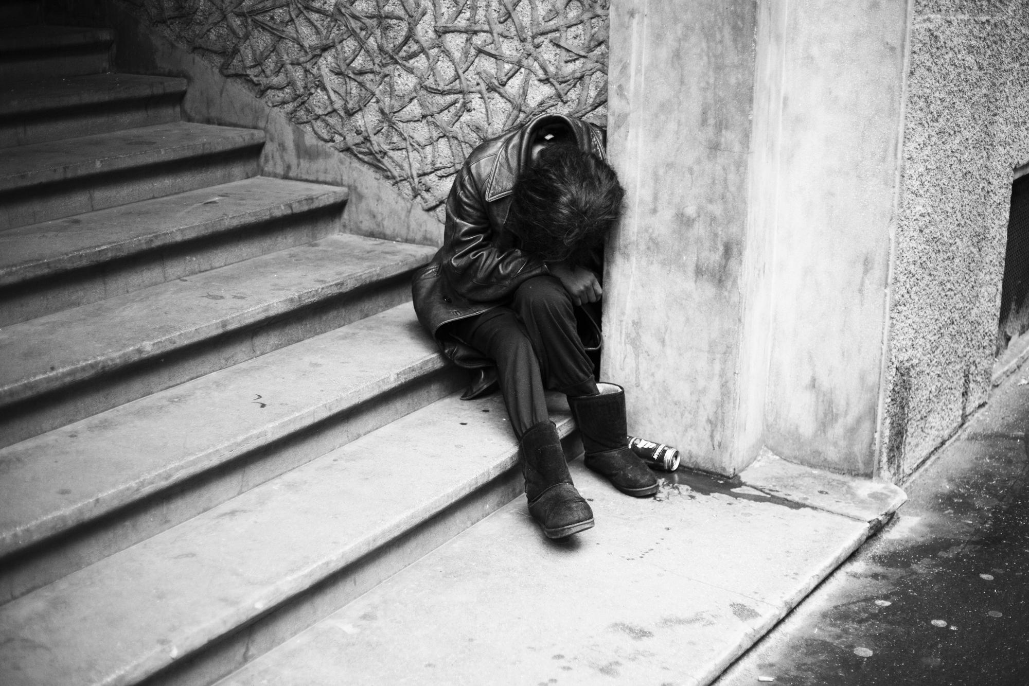 """""""Misery"""" - Rue du Temple, Paris (2017). © Clémence Rougetet"""
