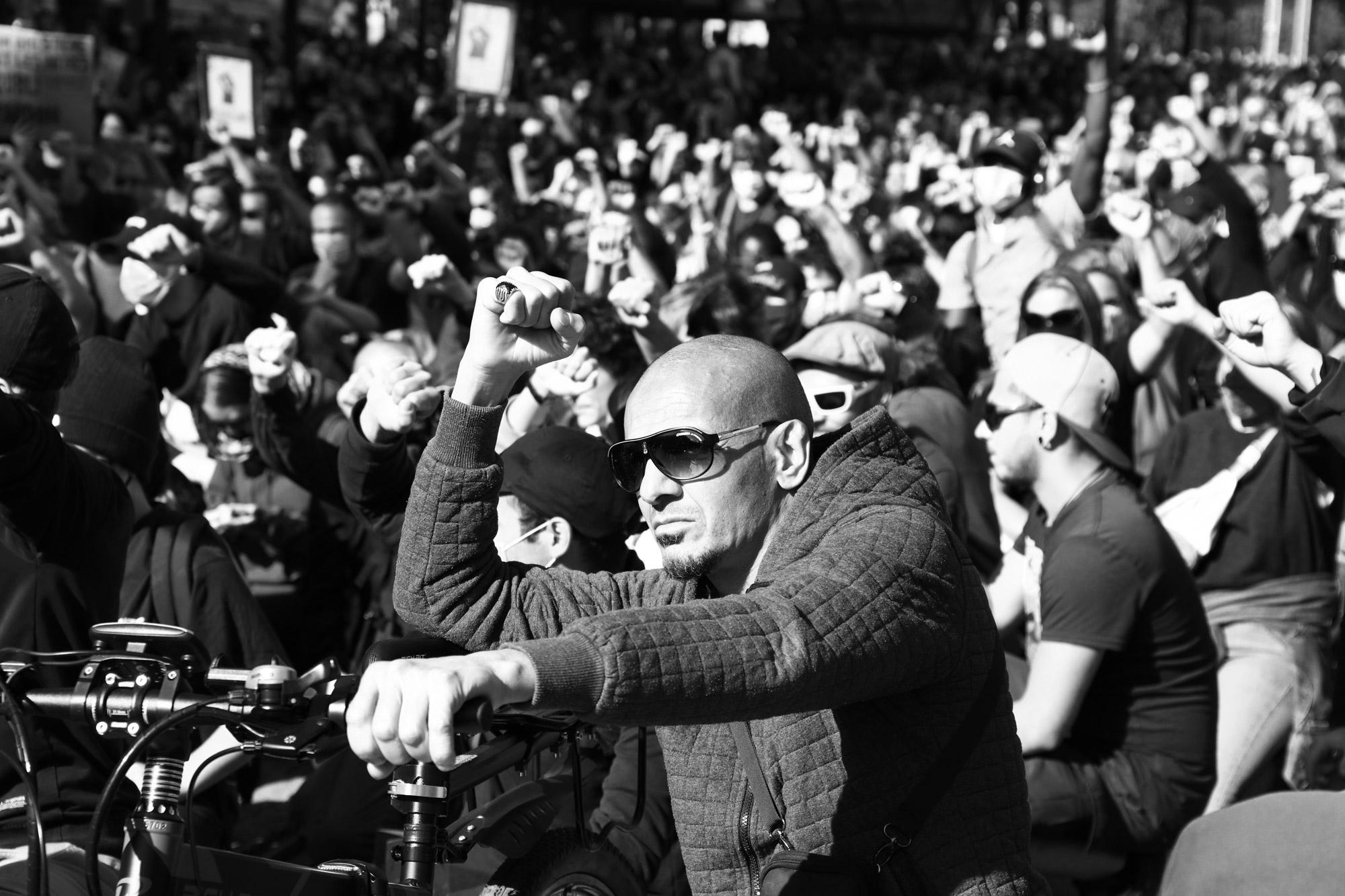 """""""Respect"""" - Rassemblement contre les violences policières, Nantes (6 juin 2020). ©Clémence Rougetet"""