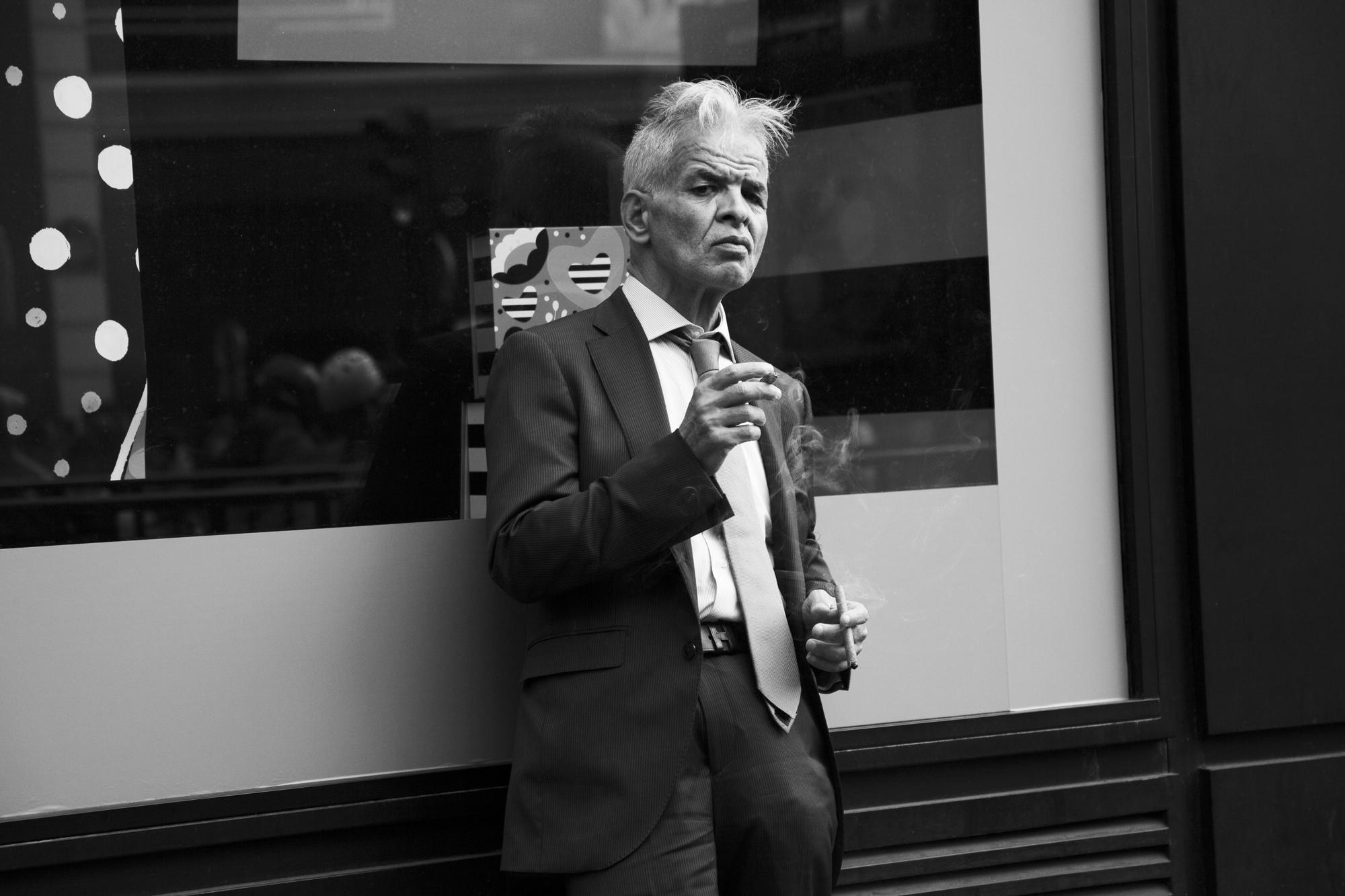 """""""Gentleman"""" - Boulevard Haussman, Paris (2017). © Clémence Rougetet"""