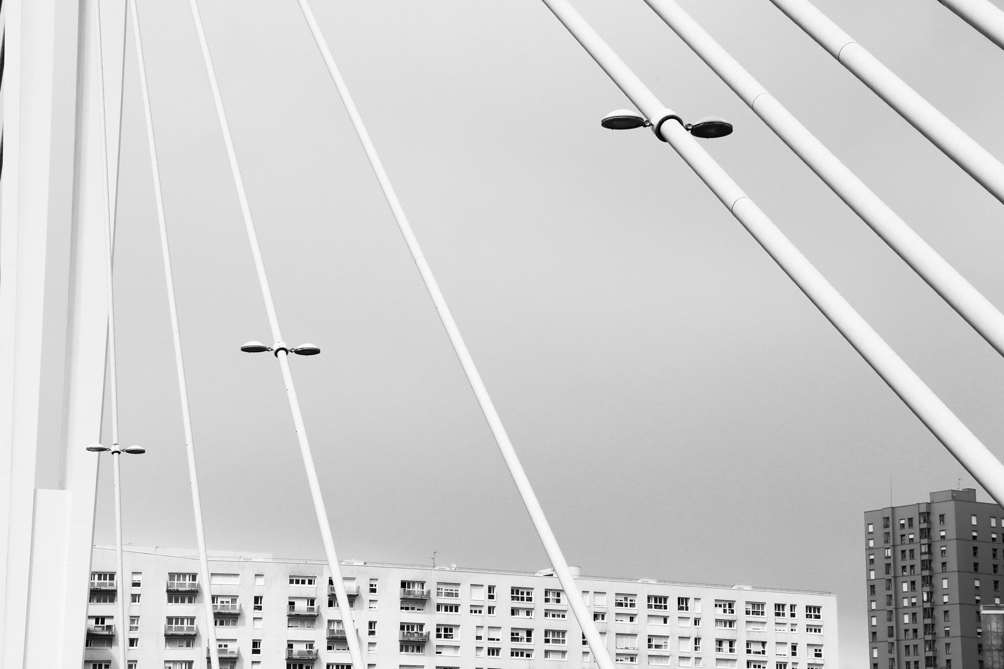 """Some lines in town"" - Pont Éric Tabarly, Nantes. ©Clémence Rougetet"