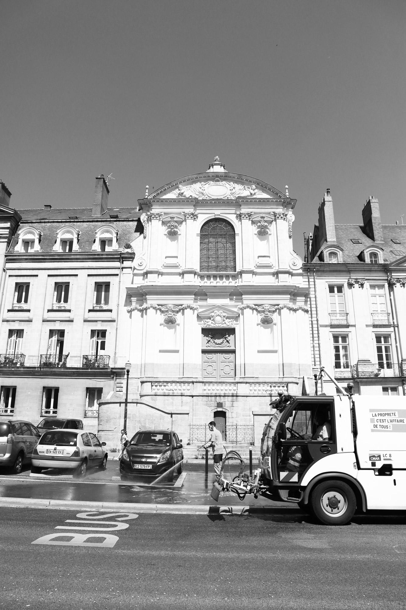 """Urban workers"" - Rue Henri IV, Nantes. ©Clémence Rougetet"