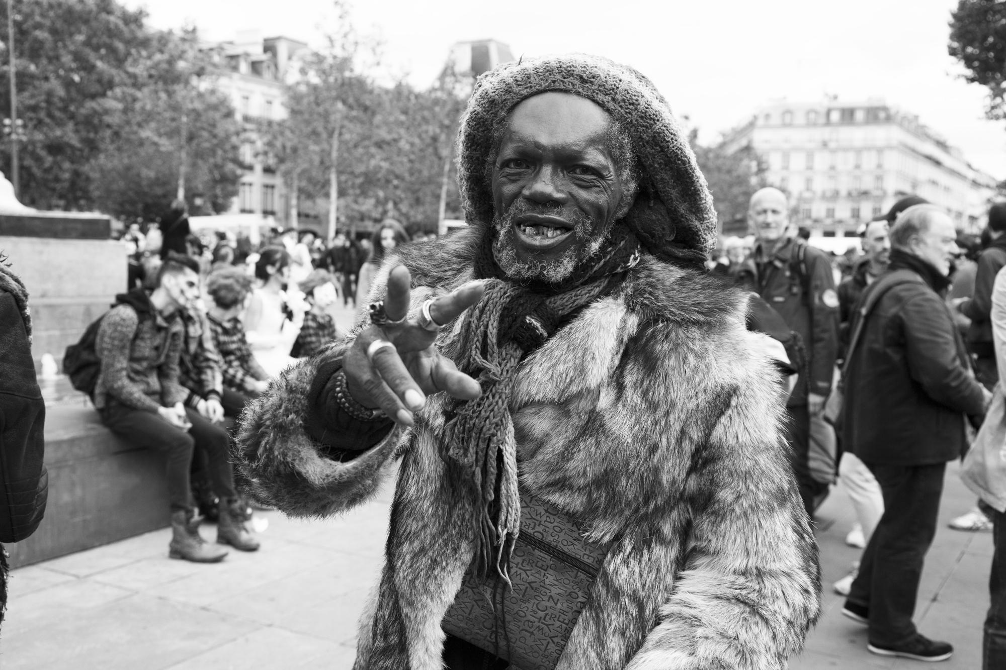 """""""Rasta man"""" - Zombie Walk, Place de la République, Paris (2017). © Clémence Rougetet"""