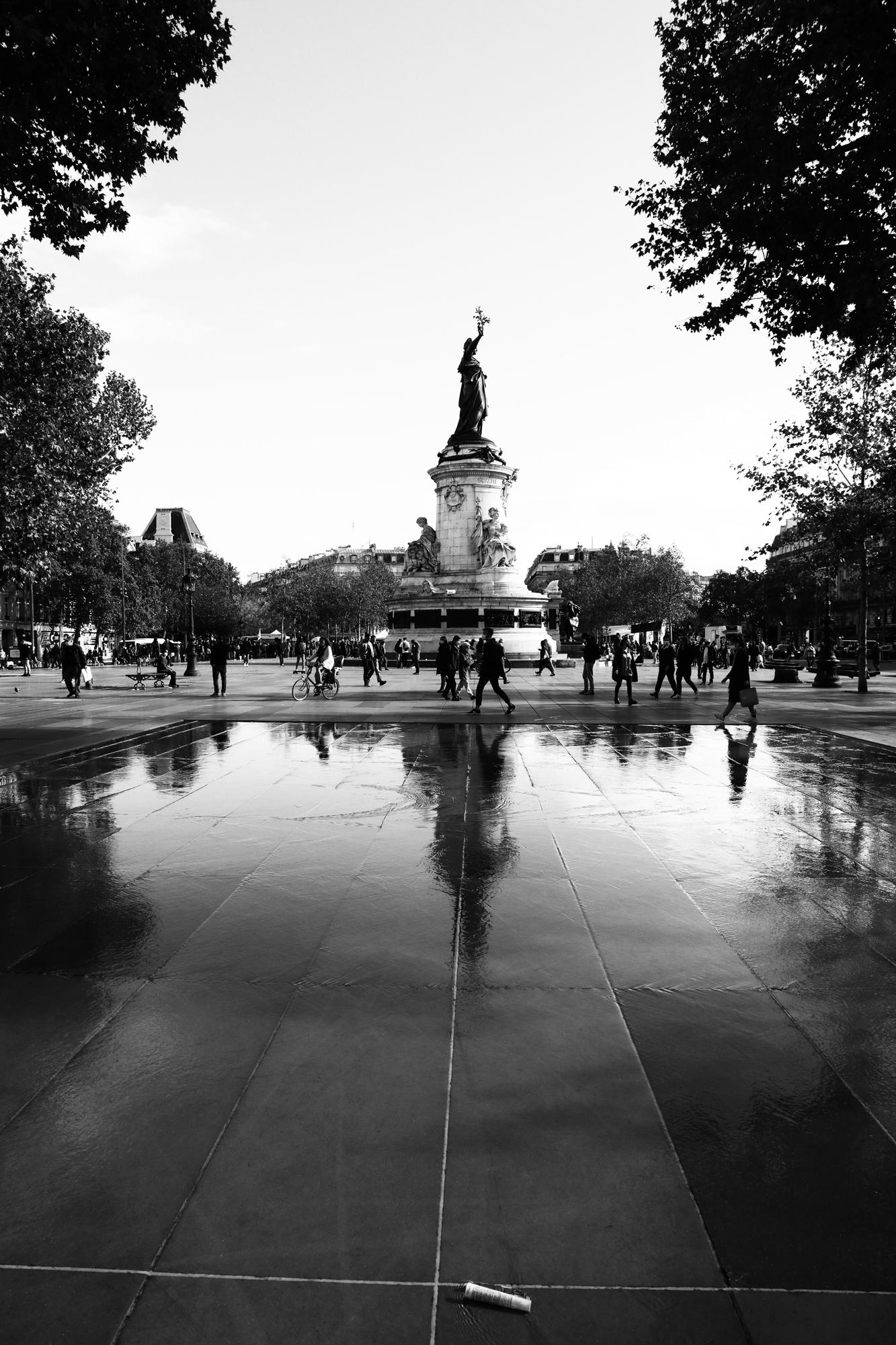 """""""Urban figures"""" - Place de la République, Paris (2020). © Clémence Rougetet"""