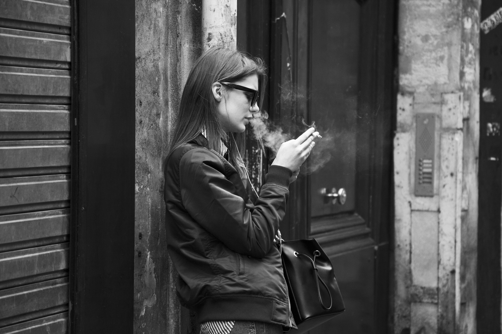 """Smoscreen"" - Rue du Temple, Paris (2017). © Clémence Rougetet"
