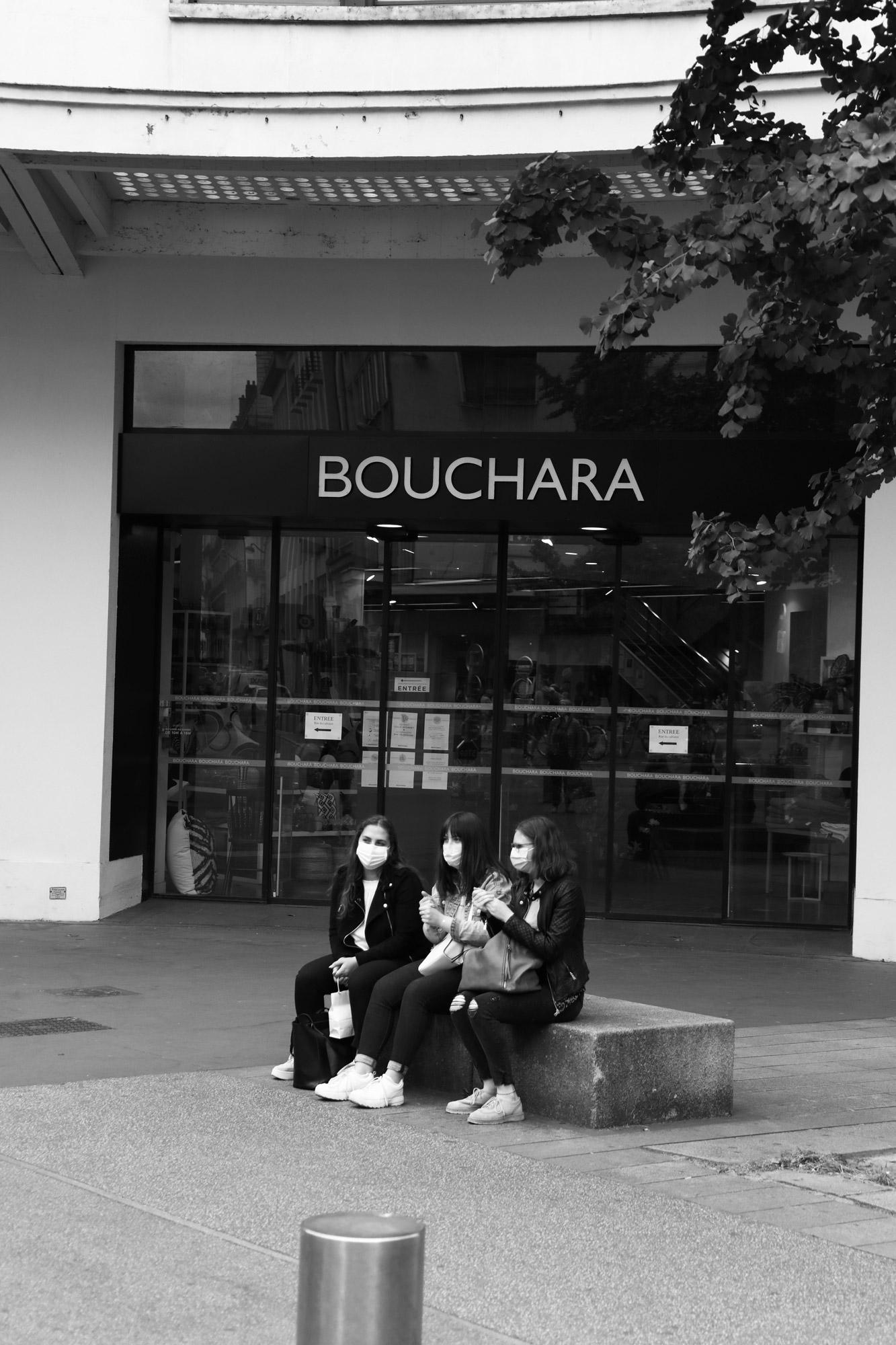 """""""Les triplettes masquées"""" - Rue du Calvaire, Nantes. ©Clémence Rougetet"""
