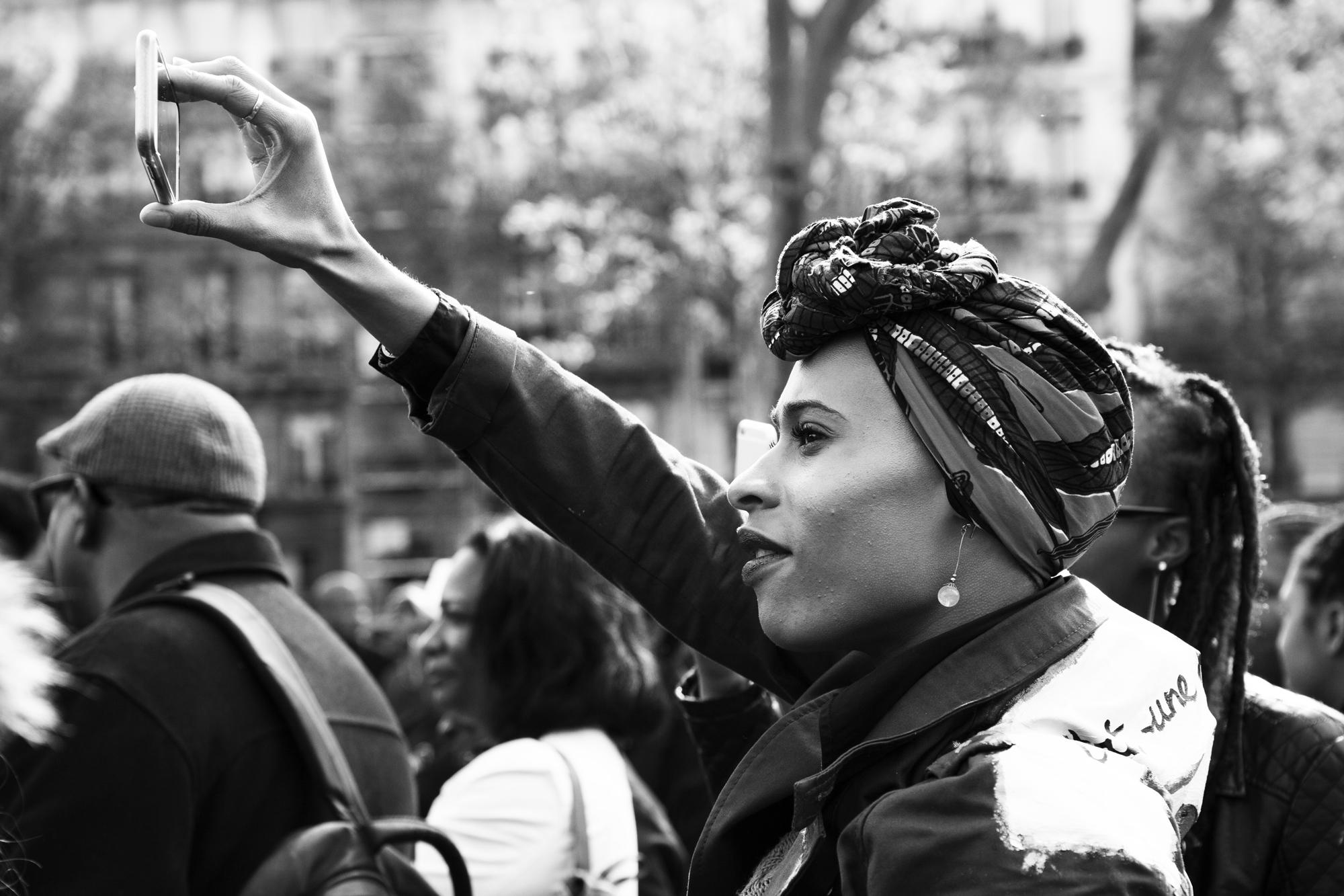 """""""Power of the street"""" - Place de la République, Paris (2017).© Clémence Rougetet"""