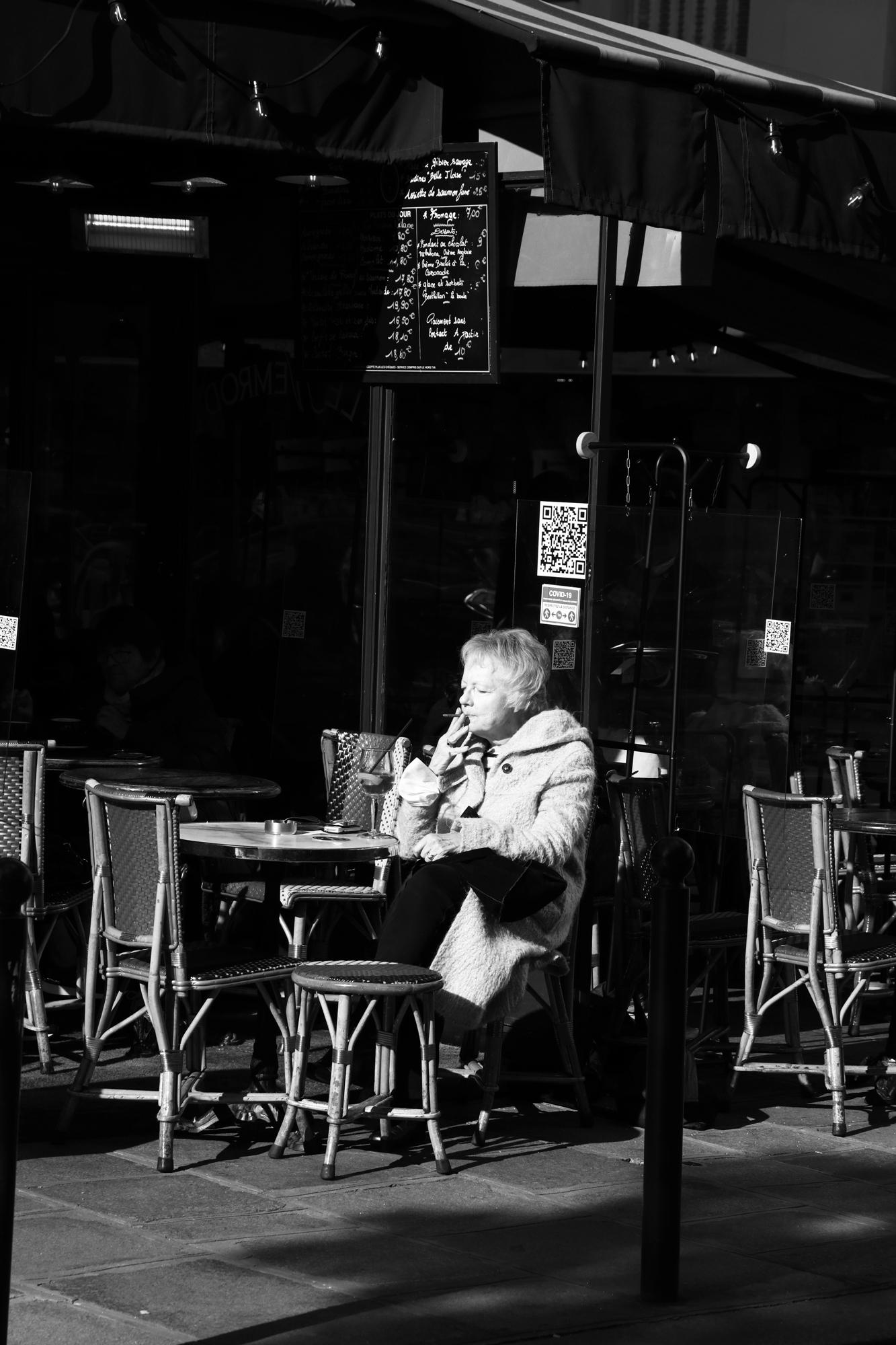 """""""Break time"""" - Paris (2020). © Clémence Rougetet"""