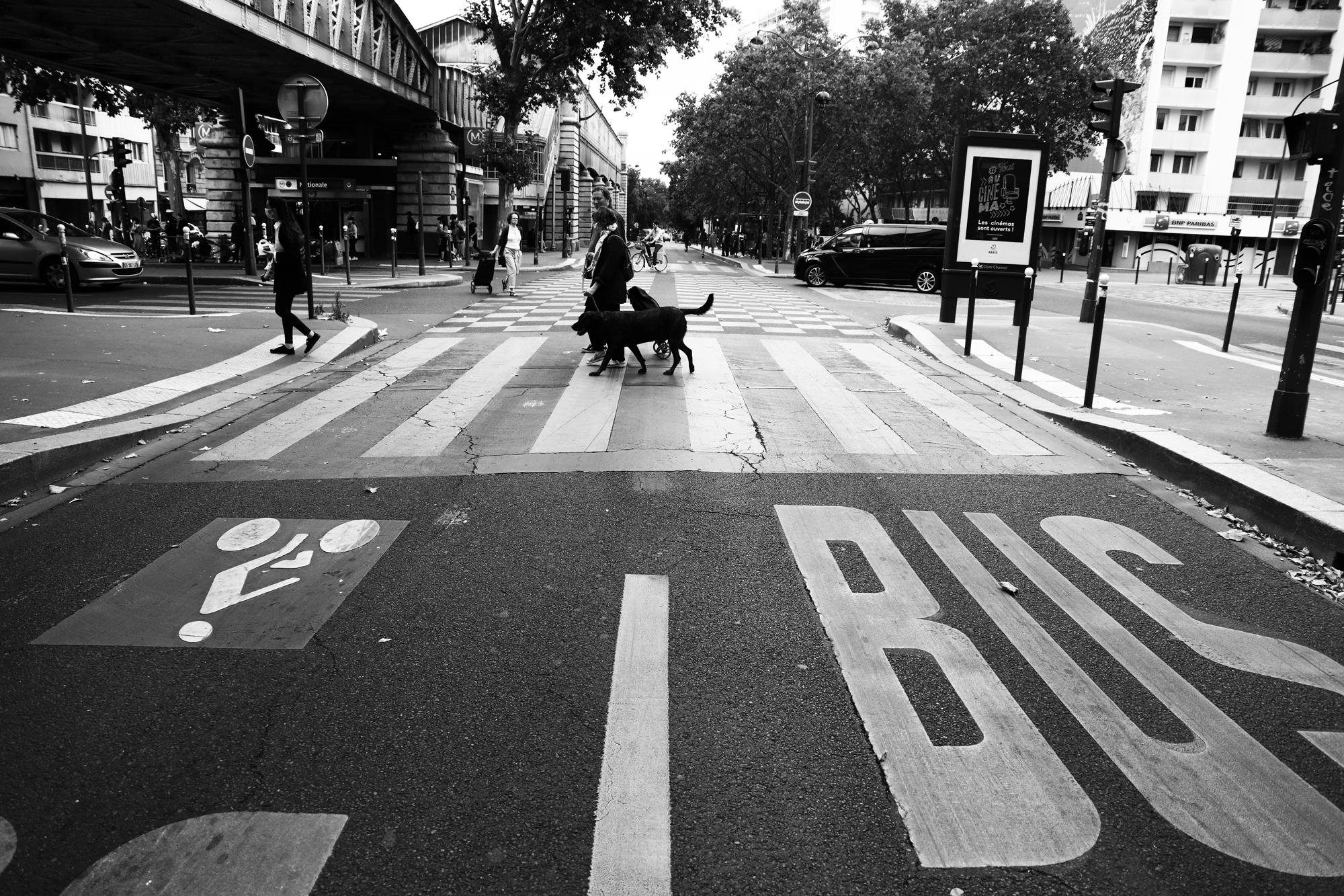"""""""Bus or not bus"""" - Boulevard Vincent Auriol, Paris (2020). © Clémence Rougetet"""