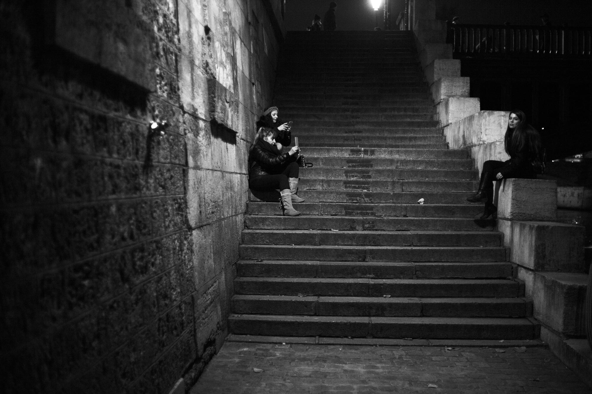 """""""Selfies"""" - Quai de Montebello, Paris (2017). © Clémence Rougetet"""