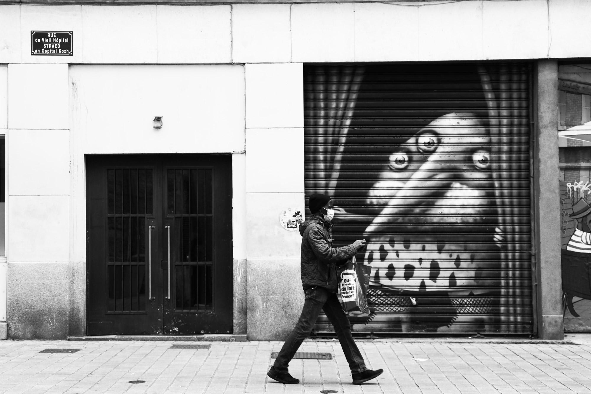 """""""Le jour d'après"""" - Rue du Vieil Hôpital, Nantes. ©Clémence Rougetet"""
