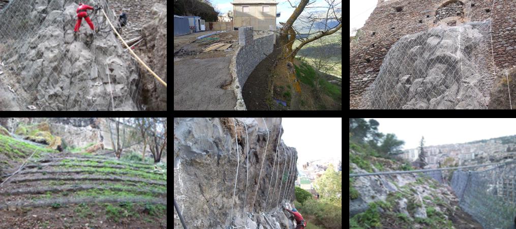 Progettazione ambientale - Consolidamenti costoni rocciosi e mitigazioni rischio idrogeologico