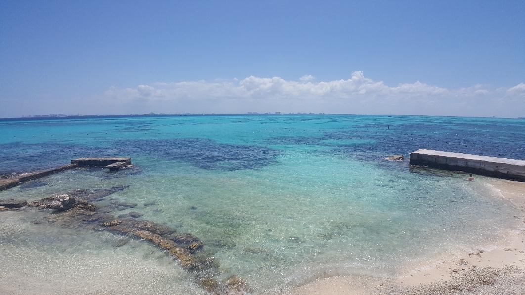 Im Horizont erkennt man (leider) Cancun