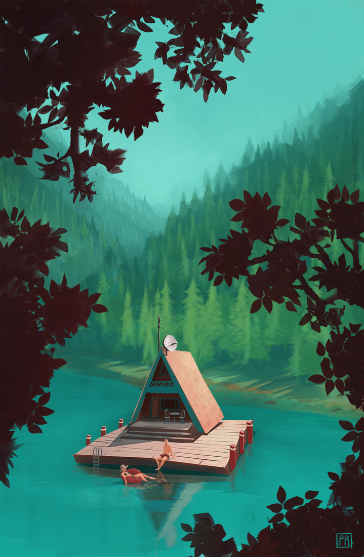 Canada House Boat - Peter Bartels- Illustration - Concept Art