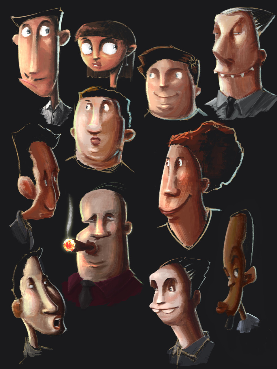 Character sheet - Peter Bartels - Illustration - Concept Art