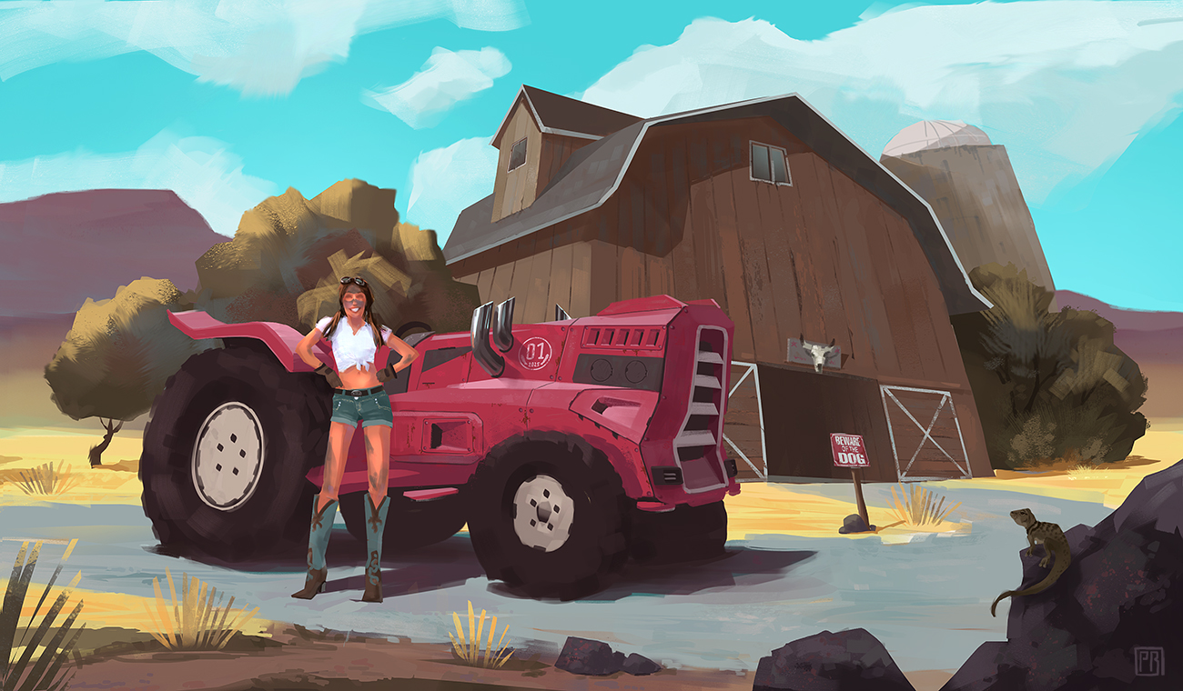 Tough Farmer Girl - Peter Bartels - - Illustration - Concept Art