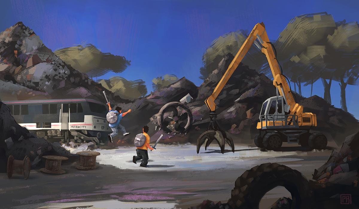 Scrapyard - Peter Bartels - Illustration - Concept Art