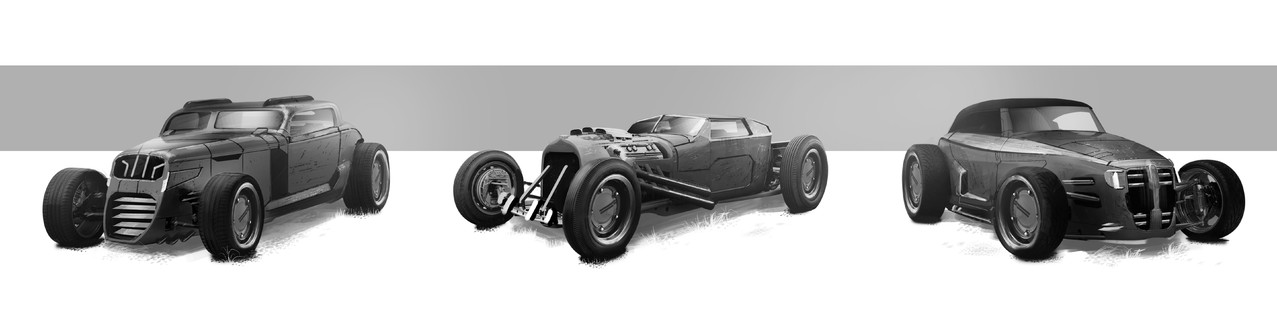 Hot Rods - Peter Bartels- Illustration - Concept Art