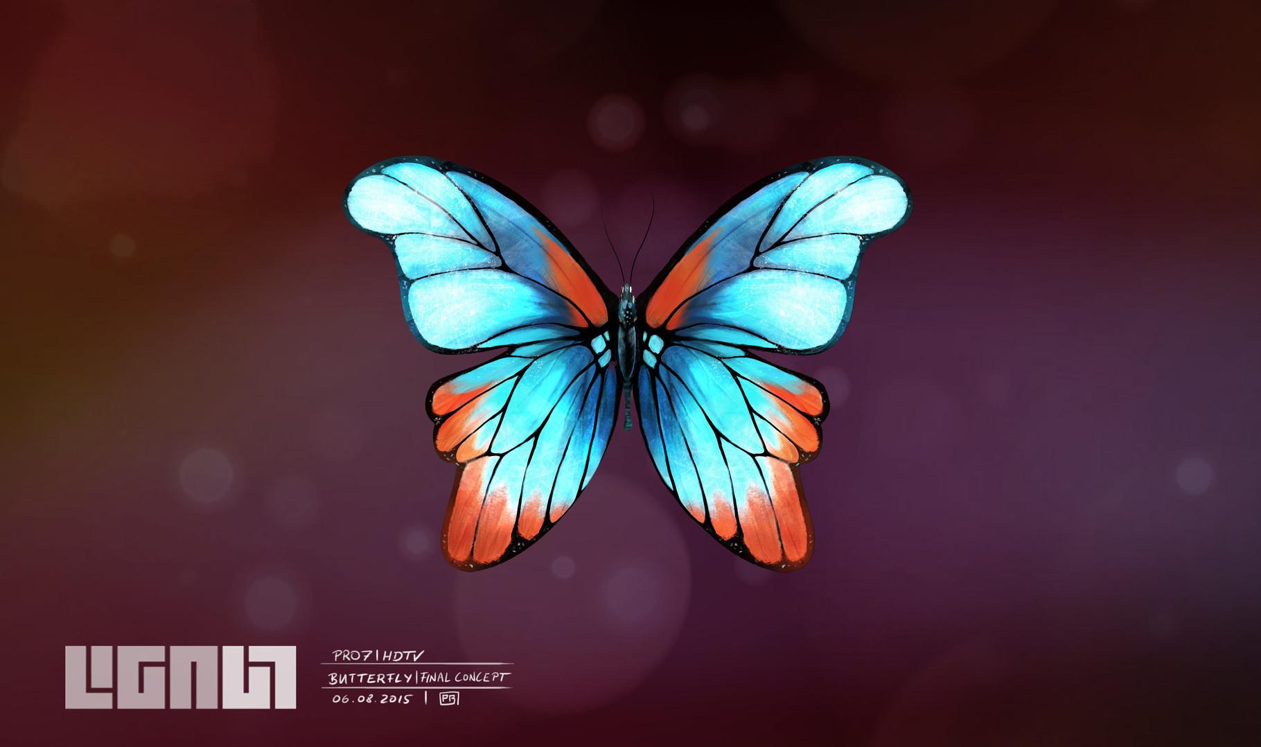 Pro7 HDTV - Butterfly - final concept - Peter Bartels