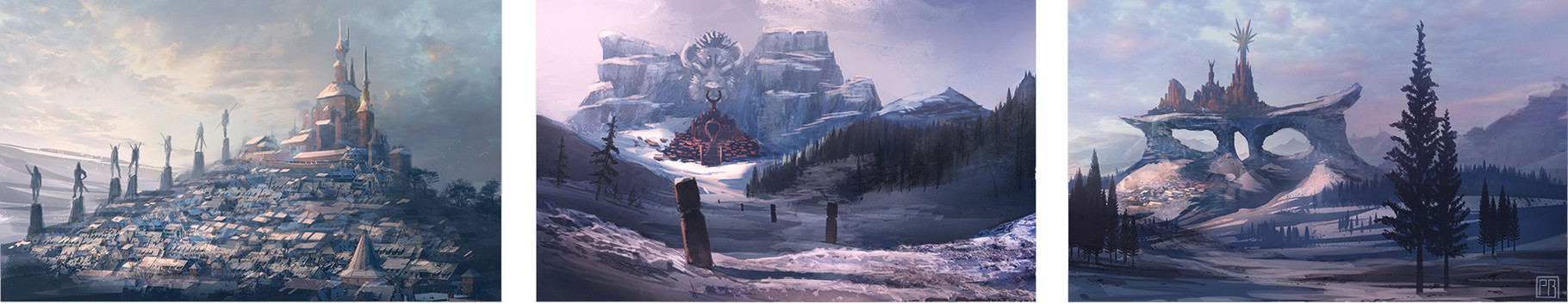 Snowy Castles - Peter Bartels- Illustration - Concept Art