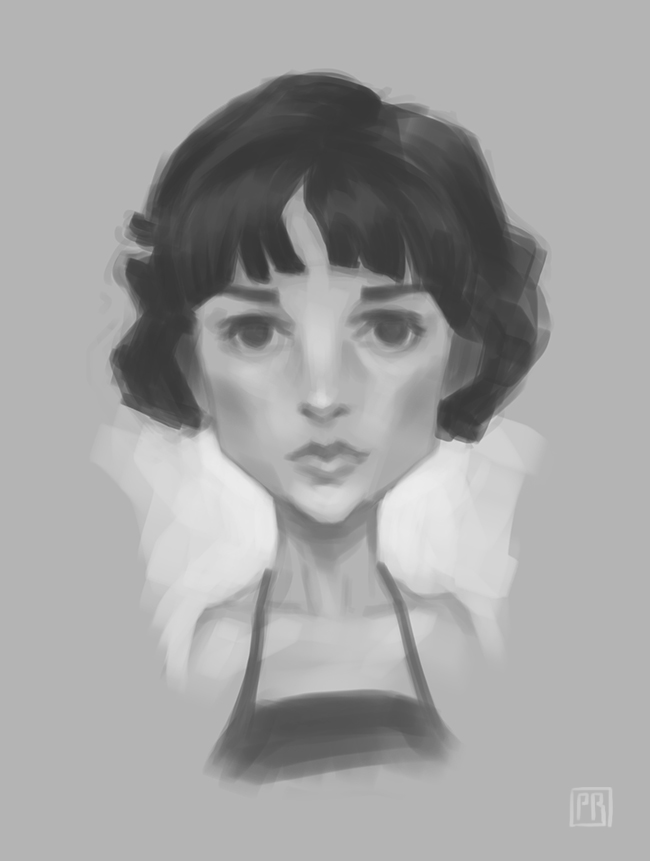 Rough black and white character 03 - Peter Bartels - Illustration - Concept Art