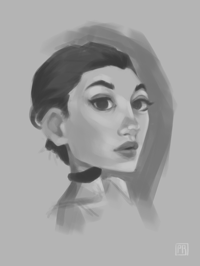 Rough black and white character 01 - Peter Bartels - Illustration - Concept Art