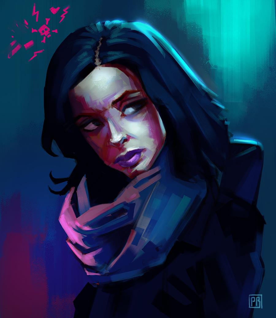 Jessica Jones character based on Kristin Ritter - Peter Bartels - Illustration - Concept Art