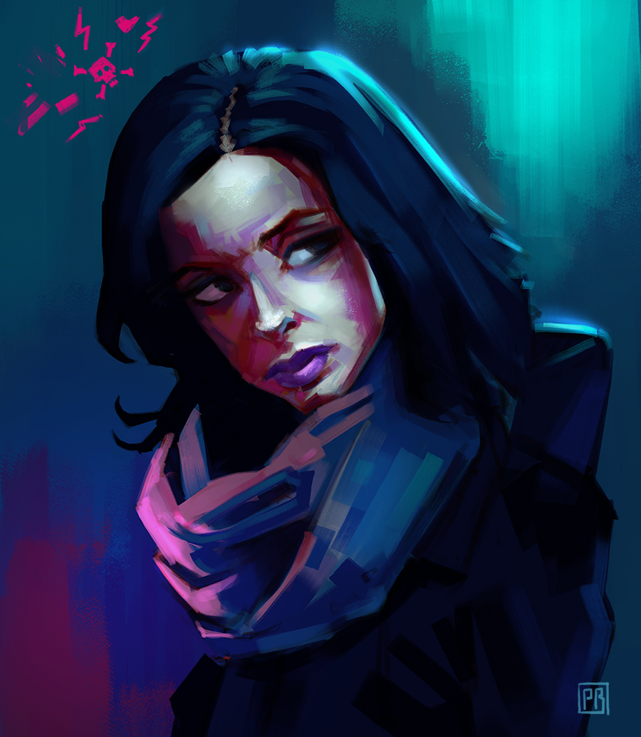 Jessica Jones character based on Kristin Ritter - Peter Bartels - Illustration - Concept Art