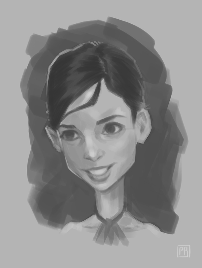 Rough black and white character 02 - Peter Bartels - Illustration - Concept Art