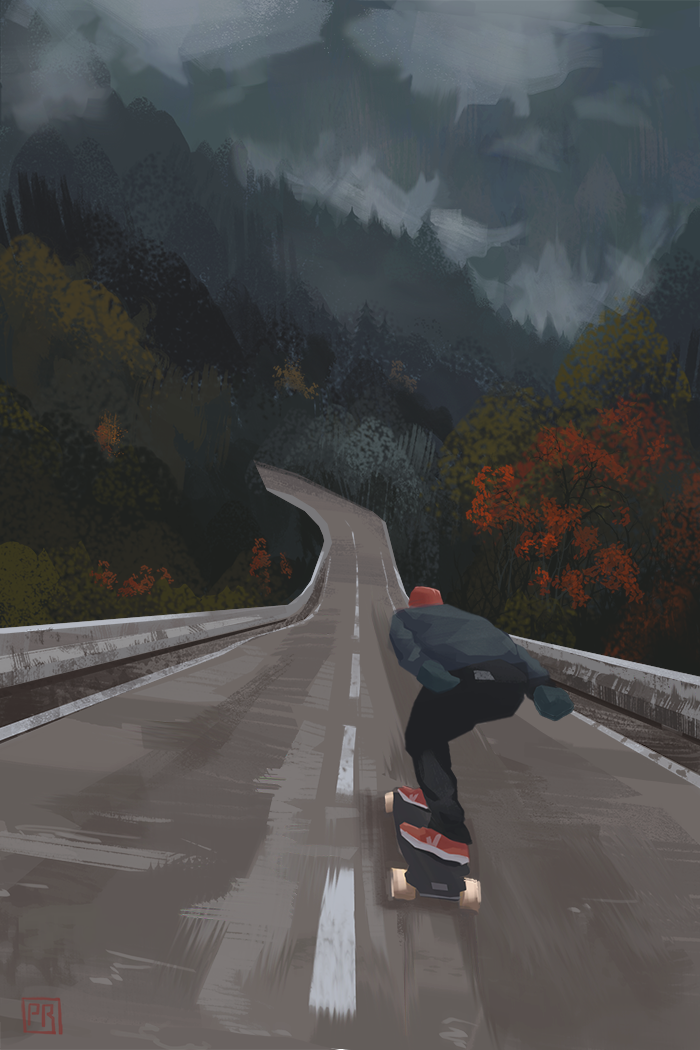 Downhill - Peter Bartels- Illustration - Concept Art
