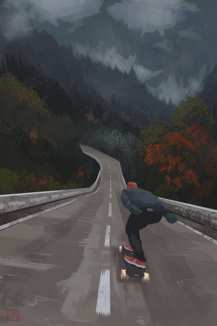Downhill - Peter Bartels- Illustration - Concept Art