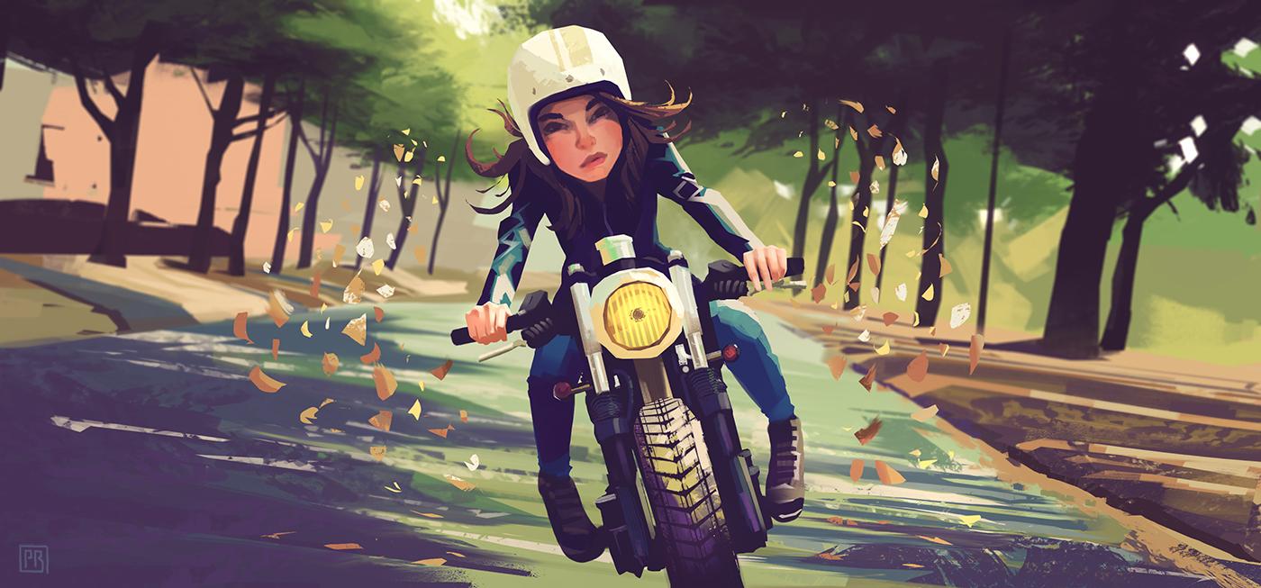 Riding the bike - Peter Bartels - Illustration - Concept Art