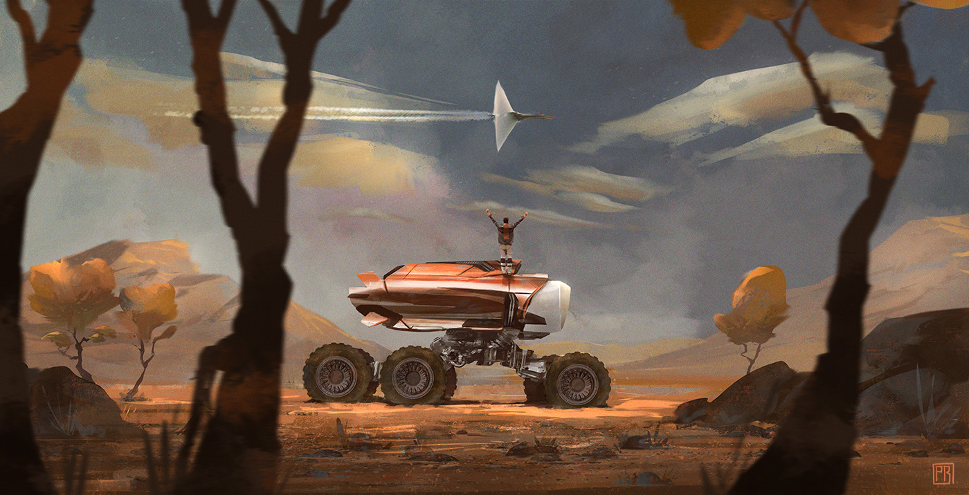 Desert Truck_SIX-Wheels - Peter Bartels- Illustration - Concept Art