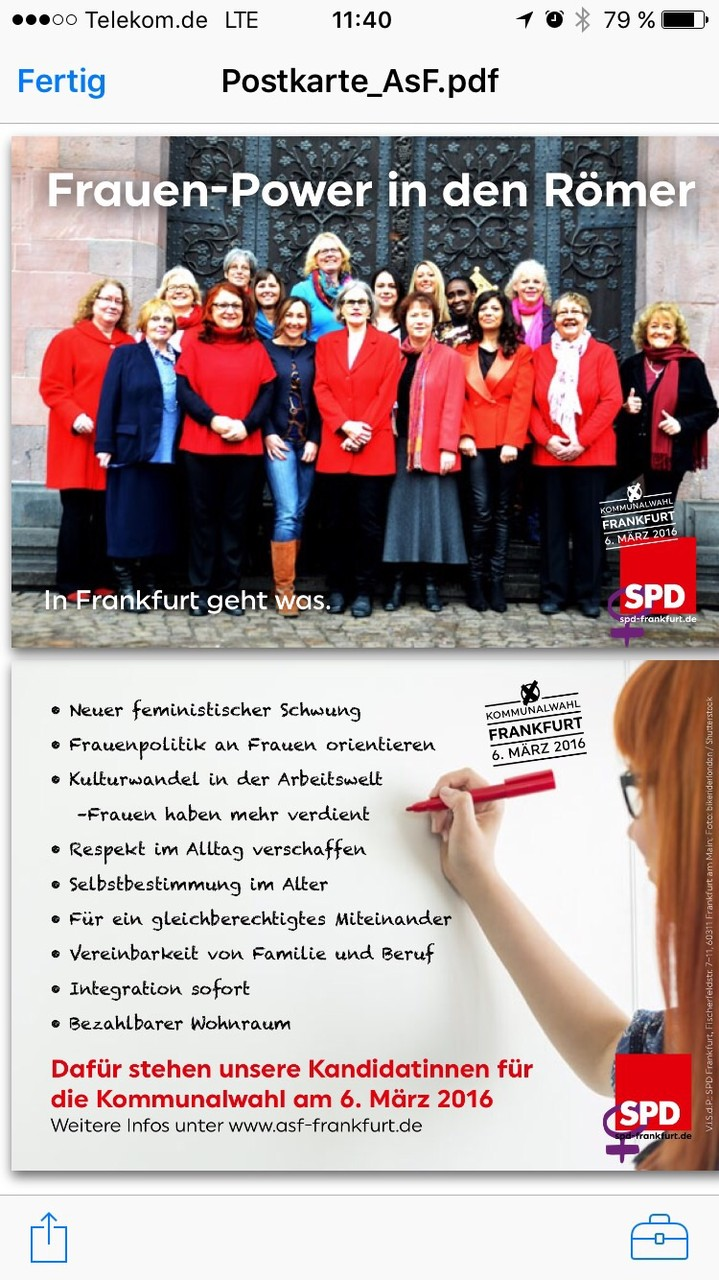 Frauenpower in den Römer- Kommunalwahl 2016