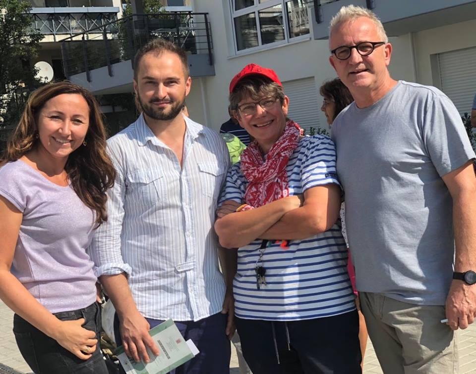 Milkica Romic (Milli) mit Conny Lüders, Claudius Swietek und Uwe Eisemann