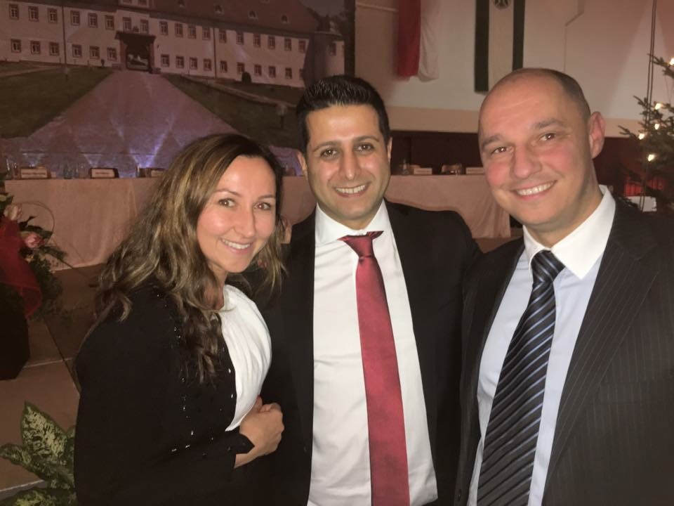 Milkica Romic mit Halil Öztas (Bürgermeister Heusenstamm) bei der Feierlichkeit zur Amtseinführung